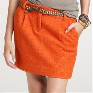 NWT JCREW ORANGE SKIRT